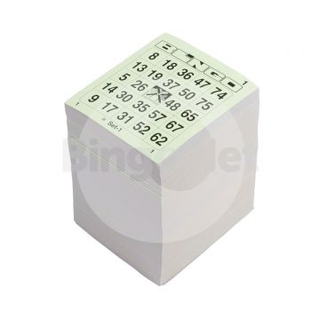1/75 bingotickets, Single BigT, Enkel, Boek, 13 ronden