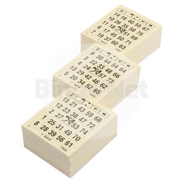 1/75 bingotickets, Single Bigtickets, Bloks, Mix set